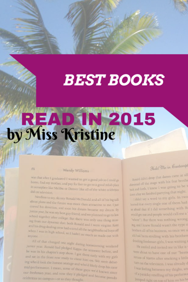 Best Books Read in 2015 by Miss Kristine
